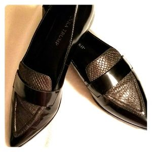 Black & pewter loafers